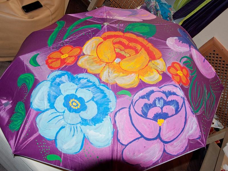 Мастер классы по росписи зонтов 2